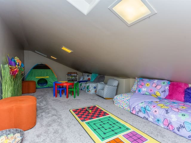 Beds and a tent and games, oh my!