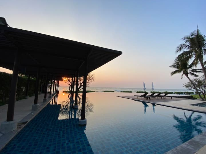 2BR Cha am Luxury Beachfront Baan Chaan Talay