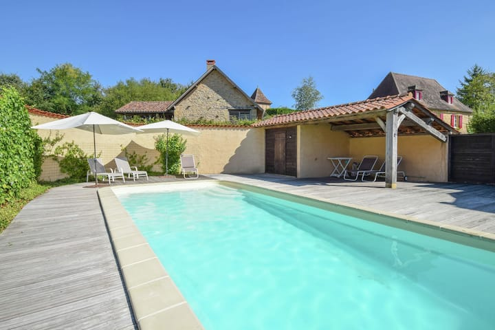 Luxury villa with heated private pool and beautiful view.
