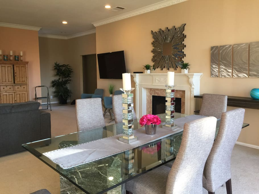 Dining Room opens to spacious living room