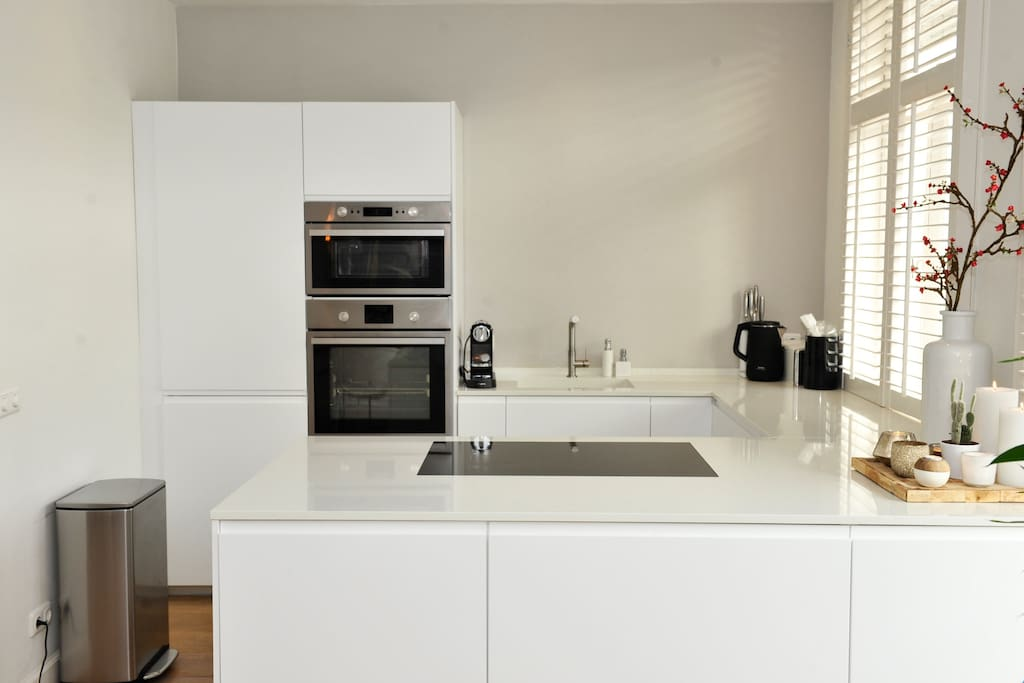 Fully equipped modern open kitchen