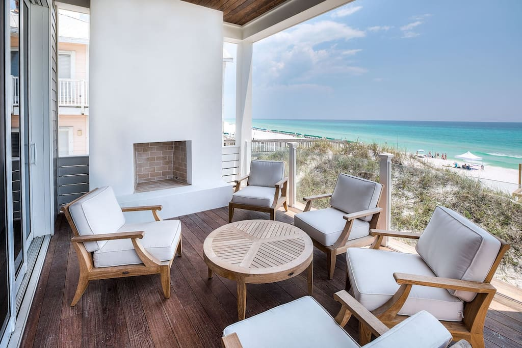 Seagrove Beach - Relax and have a drink while taking in the incredible views