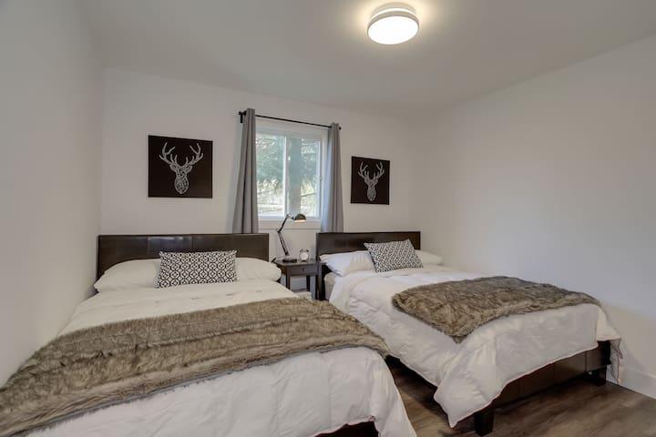 Main Floor Bedroom - 2 Double Beds. Bedroom 2