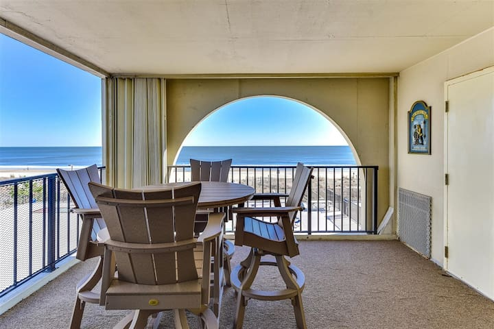 What a view! Huge ocean front balcony from this 2 Bedroom 2 Bath