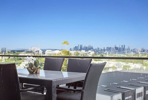 It is truly a breathtaking view of Melbourne's skyline from our apartment