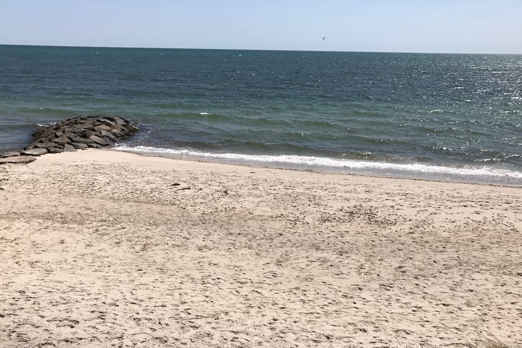 Enjoy your very own private beach on Nantucket Sound.