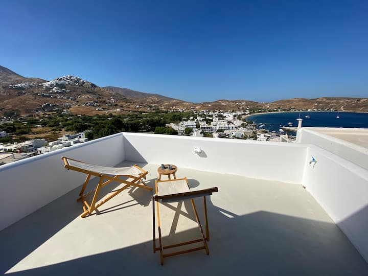 Two terrace beach house with best views on Serifos
