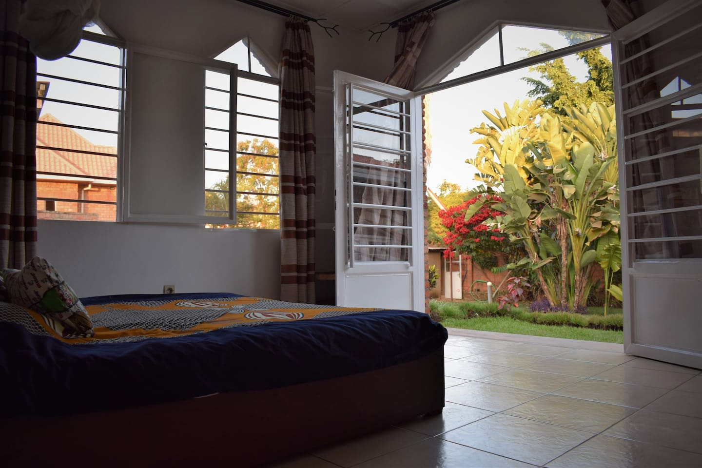 Stunning view from your bed of our tranquil garden