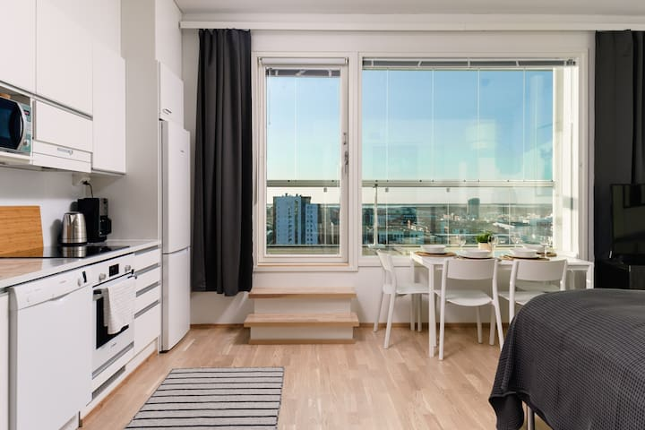 Penthouse Studio with a Stunning View in Oulu!