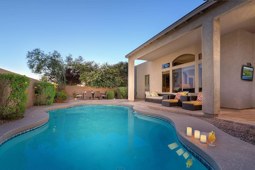 Private Pool with heater