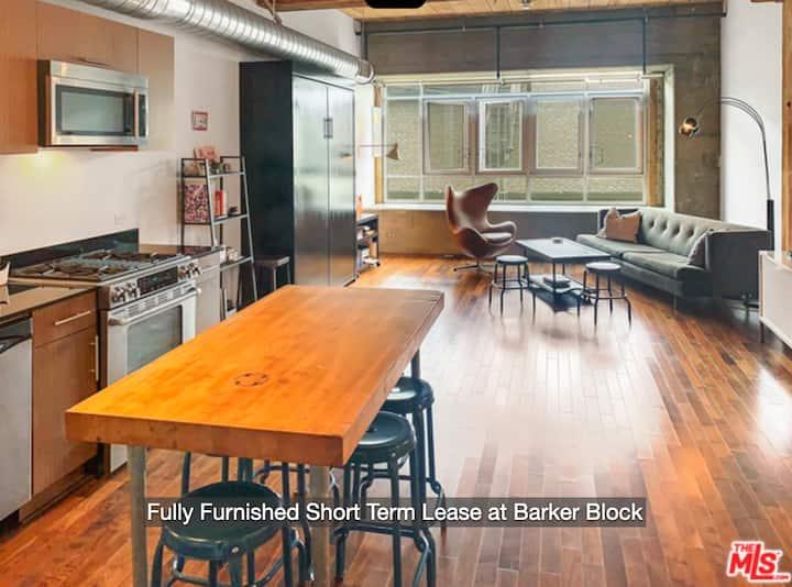 30 day minimum fully-furnished live/work loft