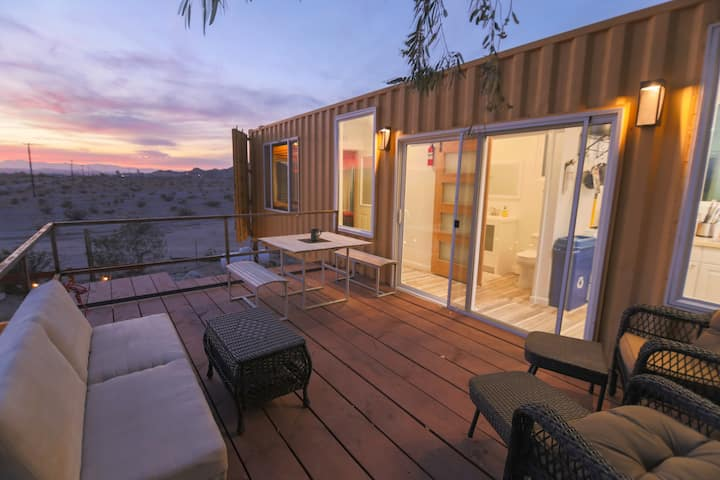 Desert Skybox Container Suites, mid-air suspended