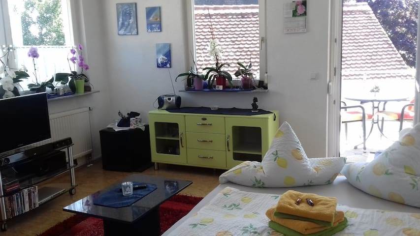 Beautiful 23m² room,balcony near Lake Constance