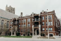 Our gorgeous early-1900's building on the edge of Indian Village Detroit.
