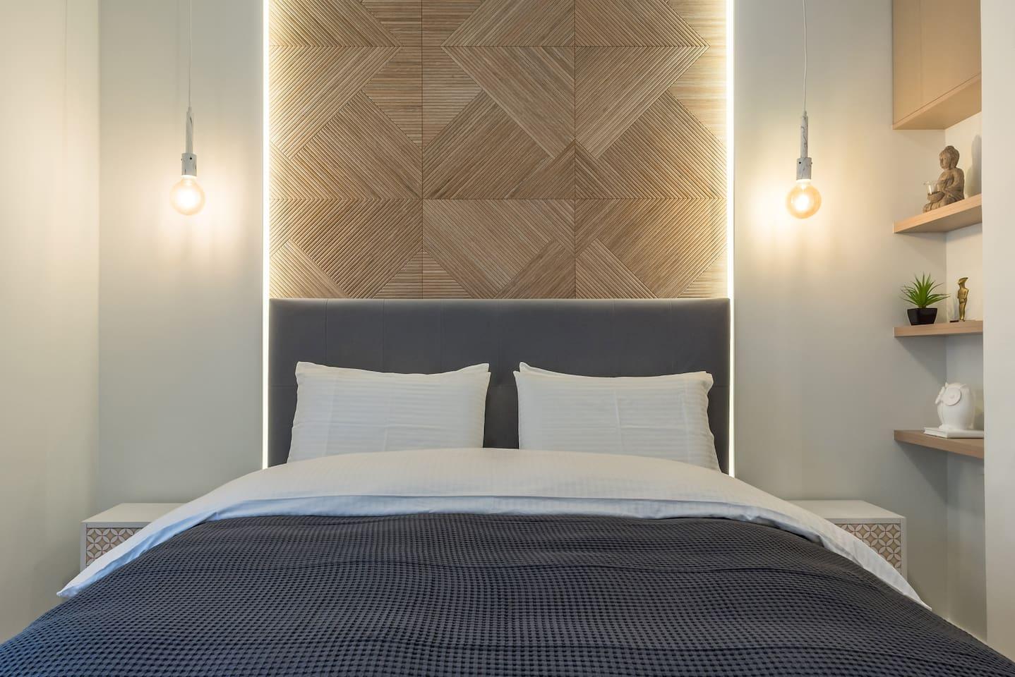 Master bedroom with exquisite detailing