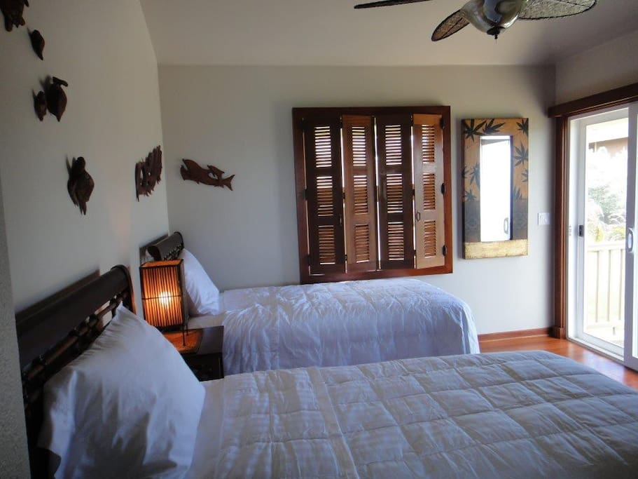 Third bedroom - two twin beds that can be set up together to make up a cal king size bed.