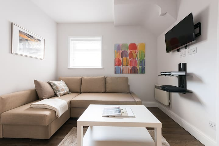 Contemporary Clean Apartment (5mins to tube)