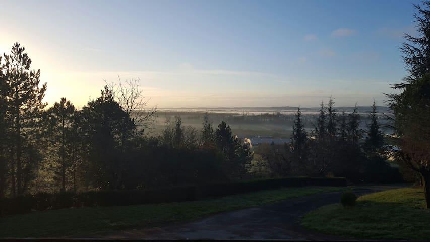 Vallée  de la Garonne au réveil