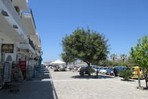 View from the door of the hotel.  Your walk to the ferry is short.   To see videos of the rooms, please try you tube hotel parko channel.