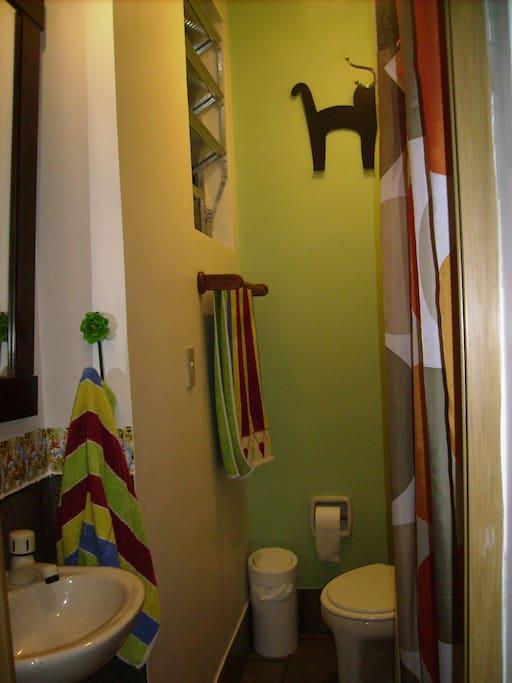 o banheiro da suite
