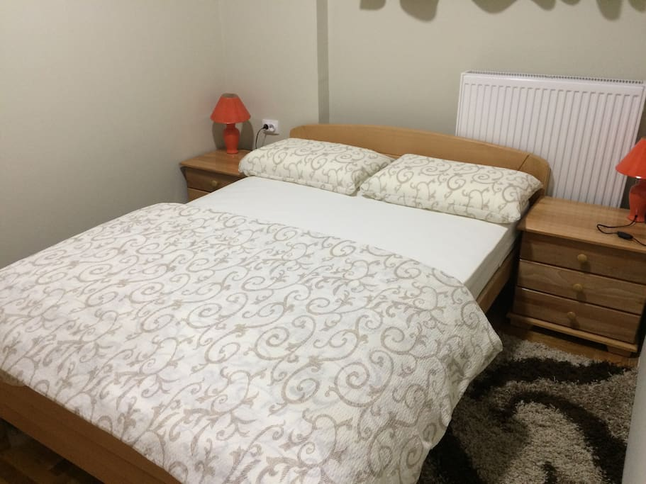 Apartment,Bedroom,a double bed