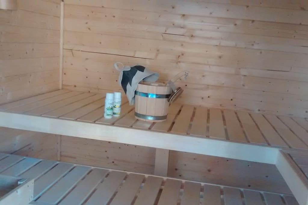 Garten Sauna Innen