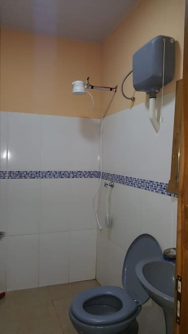 El baño con agua caliente