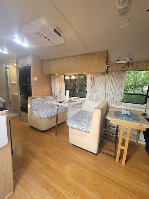 Cozy Airstream Camper.