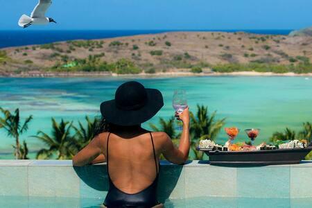Luxury Suite St Barthélemy overlooks Ocean/lagoon - Grand Cul de Sac - Gästesuite