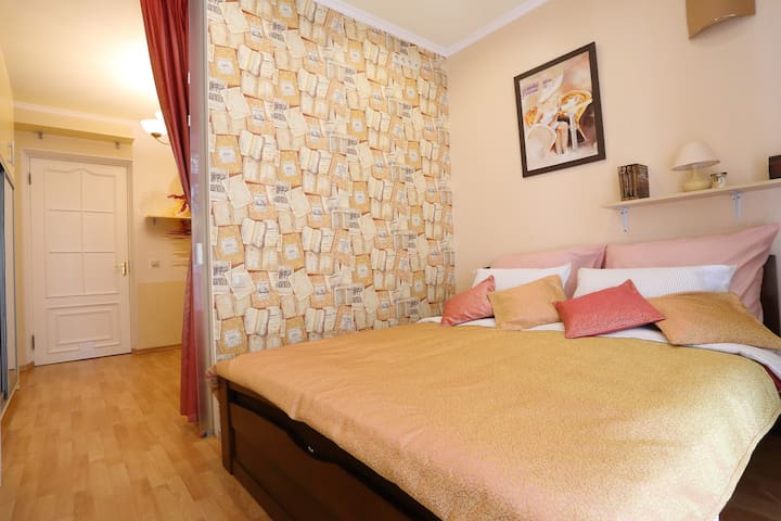 Two rooms family apartment for 6 persons, 3 beds