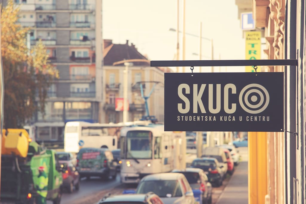Street sign, so you can find us more easily...