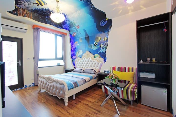海洋風雙人房1-陽台+浴缸