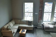 Over-view of living room space.