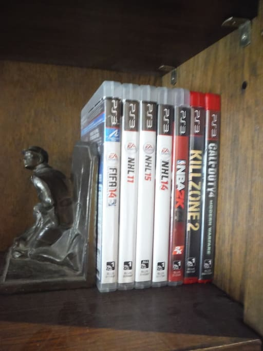 Available ps3 games. Feel free to bring your own for downtime between touring