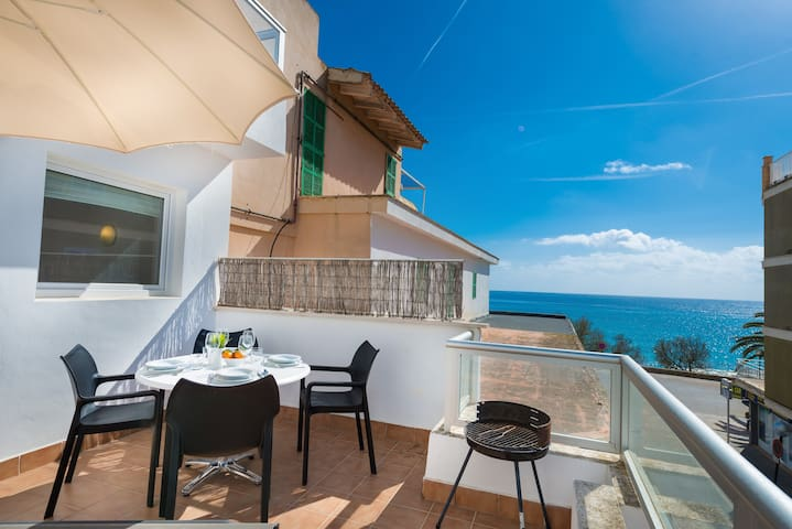 ROSA DELS VENTS 2C - Apartment with sea views in s'Illot. Free WiFi
