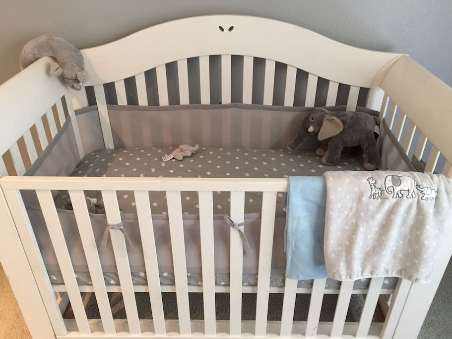 Cute and comfy crib for baby or toddler.
