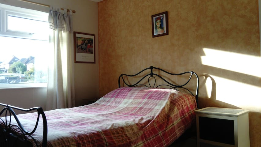 Spacious double room in comfortable house