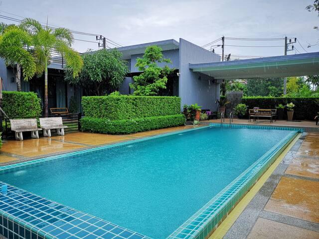 Pool villa in chalong 2BD/4-6ppl/wifi/B/
