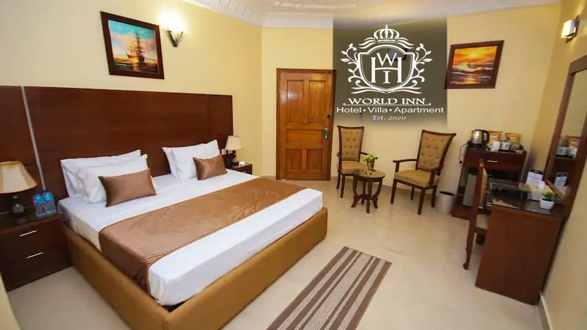 Deluxe Double Bed Room at World Inn Hotels Karachi
