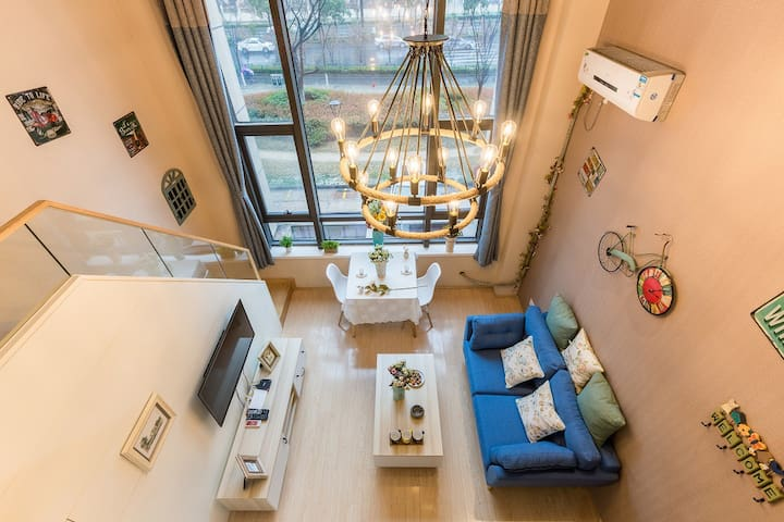近城西银泰宜家复式酒店式公寓大床套房 - Hangzhou - Apartment