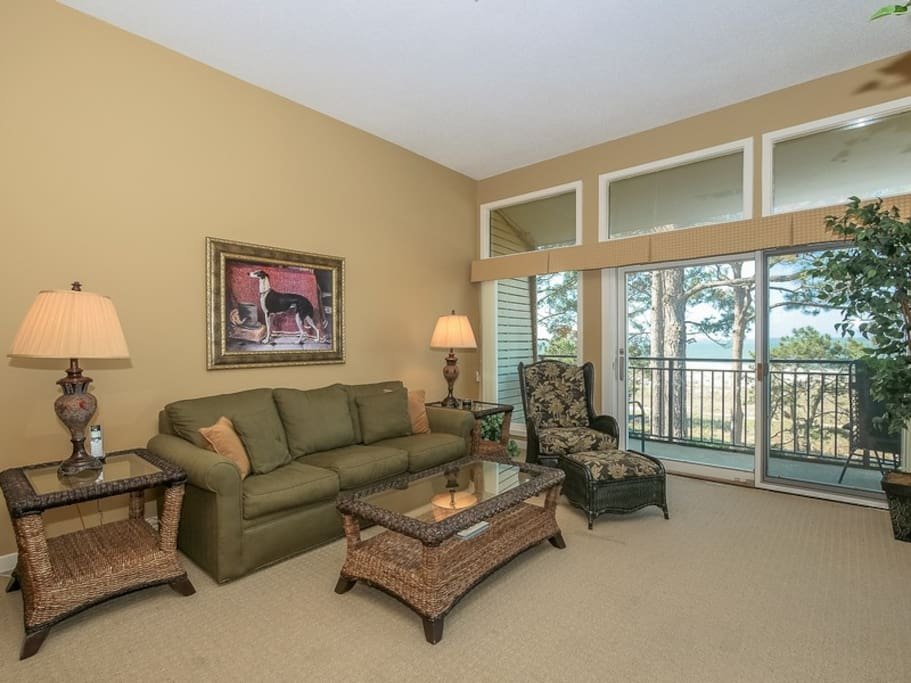Off the main living area of 1839 Beachside Tennis is the spacious exteneded balcony