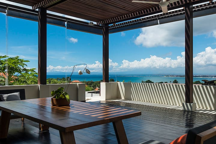 ocean view from the living area