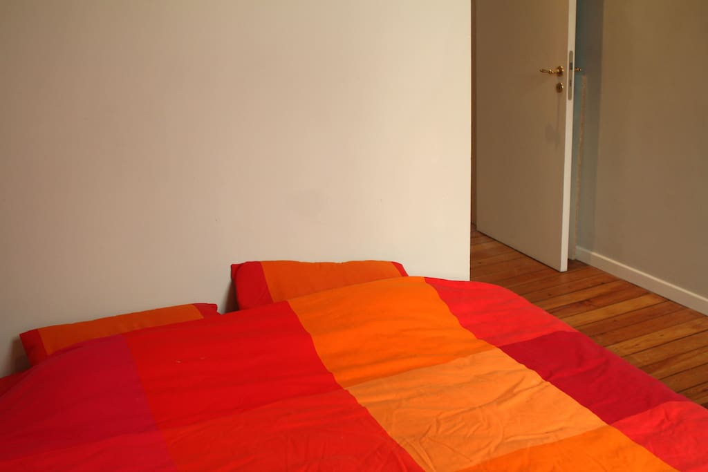 It's the second room, the bed room with a double bed (160x120cm) and a wardrobe.