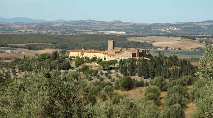 Castle. Tuscany,  14 guests