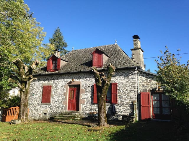 Traditional Stone House w/ garden - Merlhac - Ev