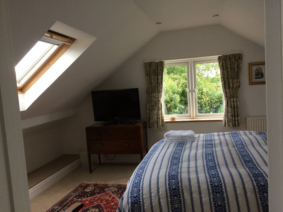 Main bedroom with view of back garden