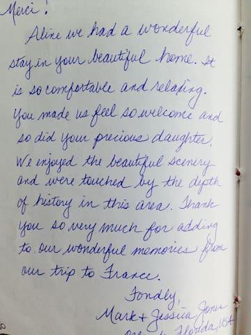 Merci pour vos adorables messages!