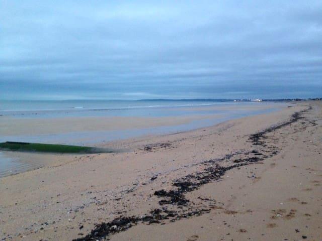 La plage de la maison, immense!