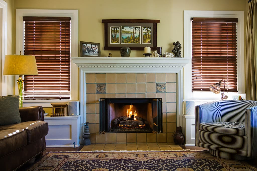 Cozy up to the clean gas burning fireplace.