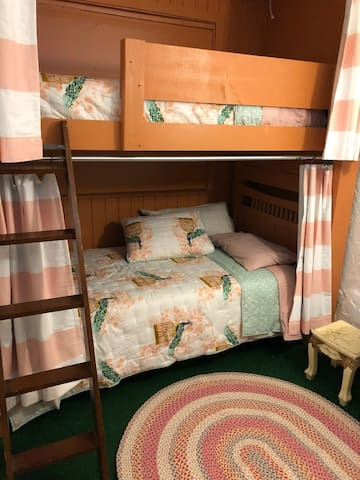 BOTTOM BUNK: $35 Per Bed, Shared 2-person room